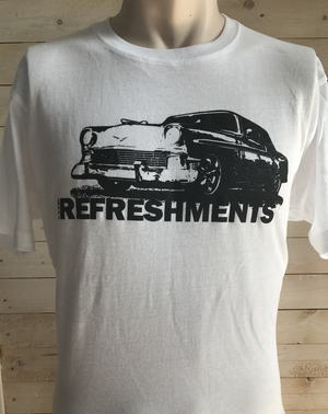 T-shirt Car white